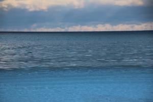 Lake Michigan shivers.