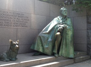 FDR's Memorial is a lovely place along the river.