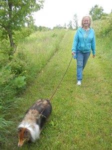 Walking at the park!