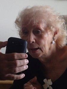 Looking at family photos