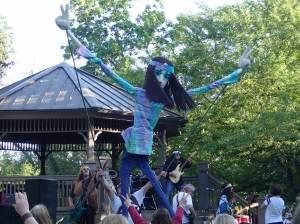 Giant dancer puppet