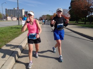 Running strong at mile 19!