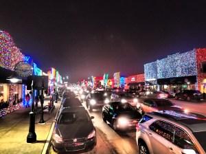 Main street lit up