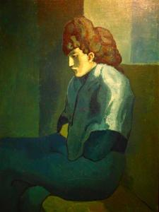Melancholy Woman.  1902