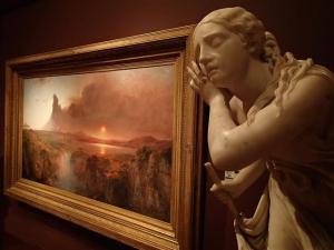Sculpture and landscape.