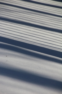 Shadows on the deck.