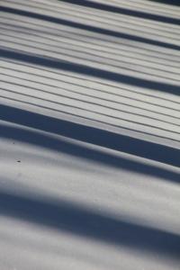 Shadows on the deck.