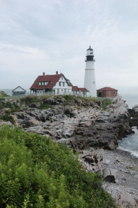 Portland Head Lighthouse before the storm.