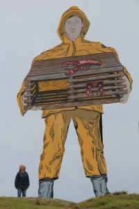 Lobsterman.  Kind of Paul Bunyan in a rain slicker.