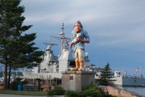 Big ship, big fisherman!