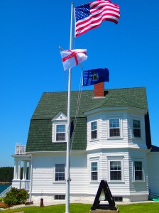 Flags flying high.