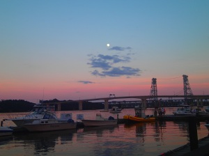 Moon over Maine.