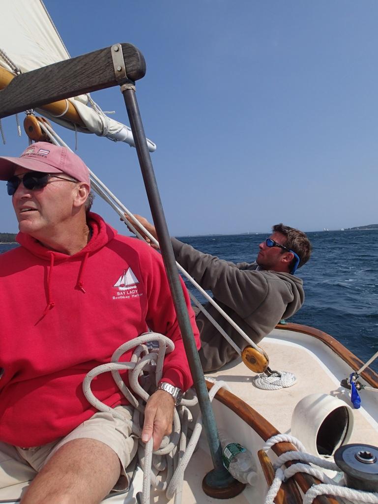 Sailing the ocean breezes.