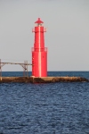 Evening sun + red lighthouse = magic