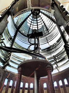Original lens, Cana Island Lighthouse