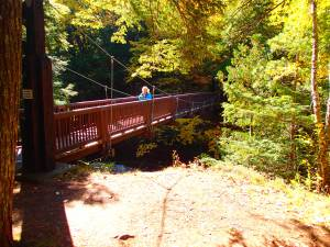 Foot bridge over the Presque Isle River