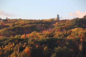 Quincy mine at sunset.