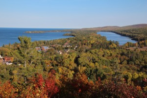 Copper Harbor from Brockway Mountain.