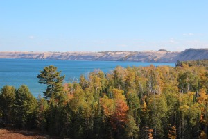 View toward Grand Marais.  They used to walk there for groceries.