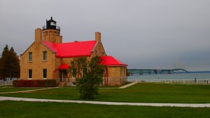 Lighthouse and bridge combo.