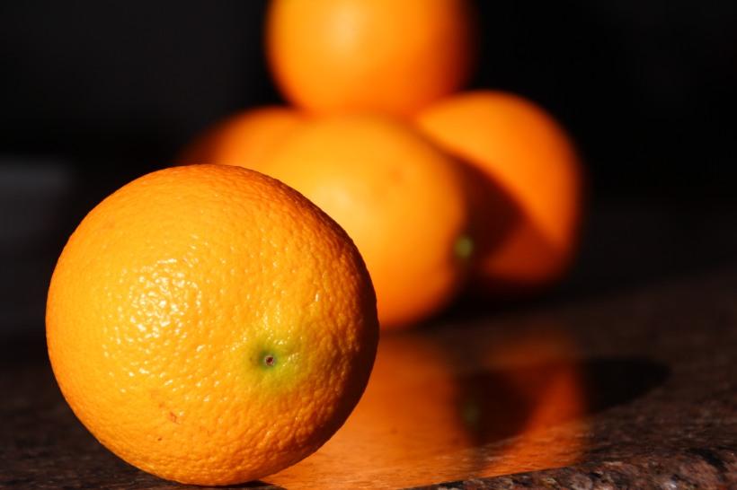 Orange afternoon light.