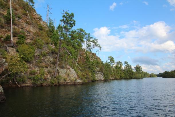 Mountain accompanies lake.