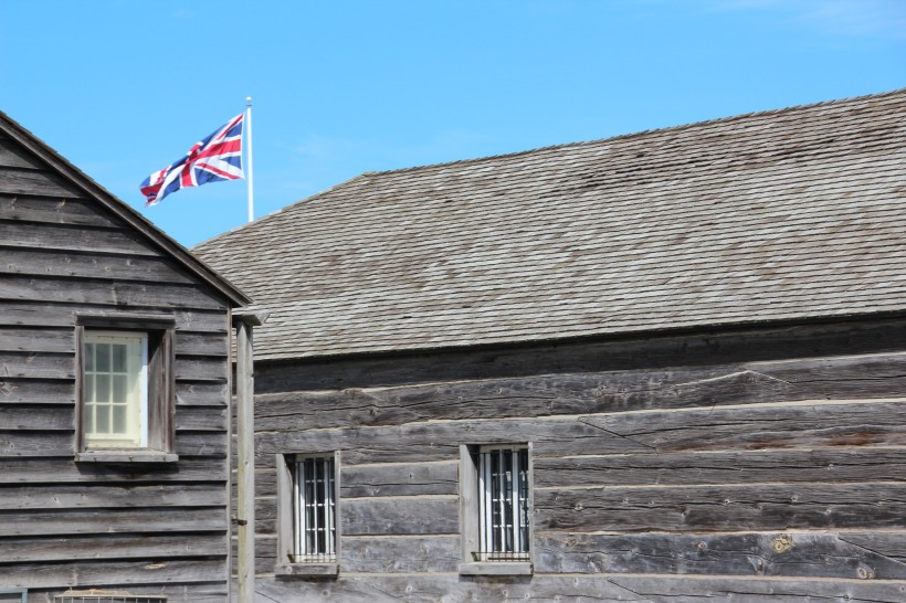 Ft George was built of wood, never meant for defense.  It was burned and the entire town also burned by the Americans.