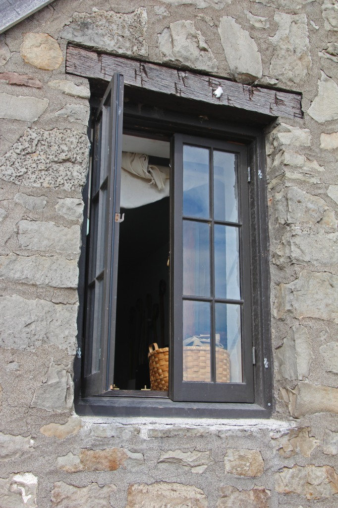 Window with a basket.
