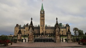 Parliament Hill, with Peace Tower.