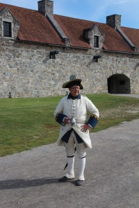 Our guide, as a resident of the fort in the mid 1700s.