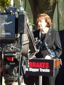 Senator Feinstein says NO to double 33 foot trailers.