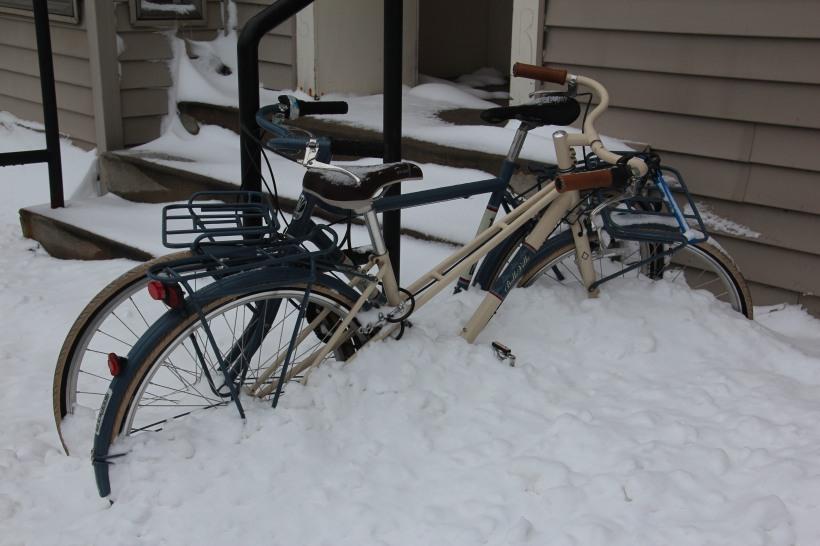 Not the season for bike riding.