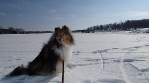 On the ice of my mama's childhood lake!