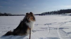 On the ice of my mama's childhood lake!
