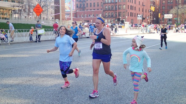 Running mom into the finish line