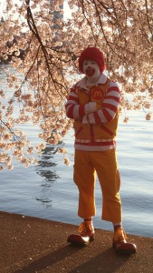 I have no idea why Ronald was out so early.