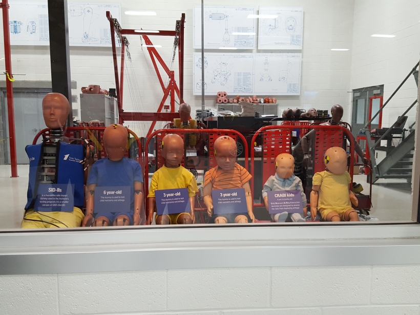 Crash dummies waiting to go to work.