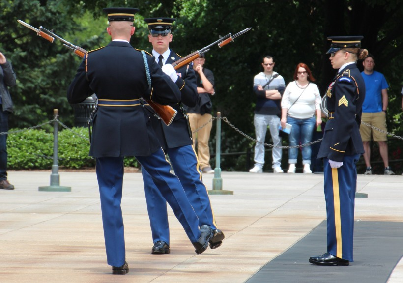 Changing the honor guard.
