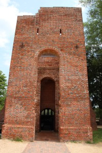 The brick tower of the church is the only original structure left and dates from the mid 17th century.