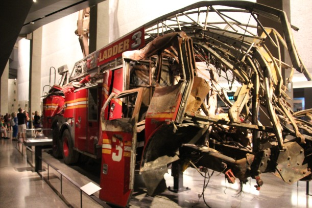 Fire truck.  Cab is destroyed.  All died.