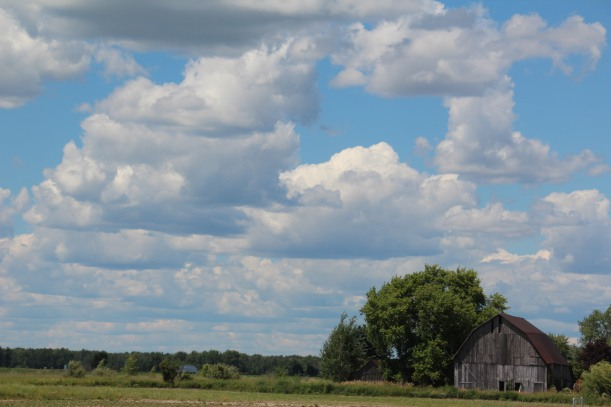 Barns and clouds - winning combination.