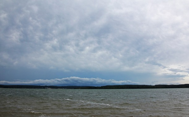 Dark and stormy  Lake Margrethe