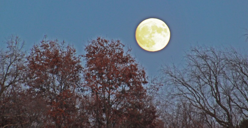 Sunday night's moon.