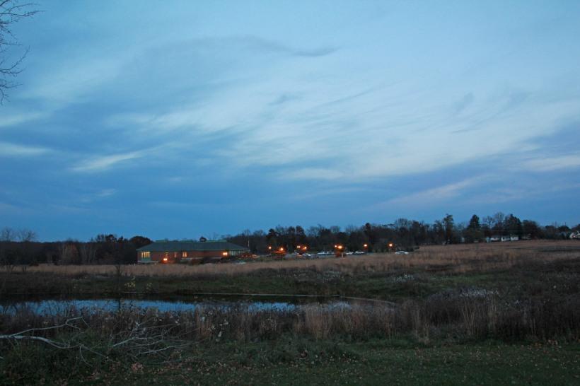 A little cloudy Monday evening.