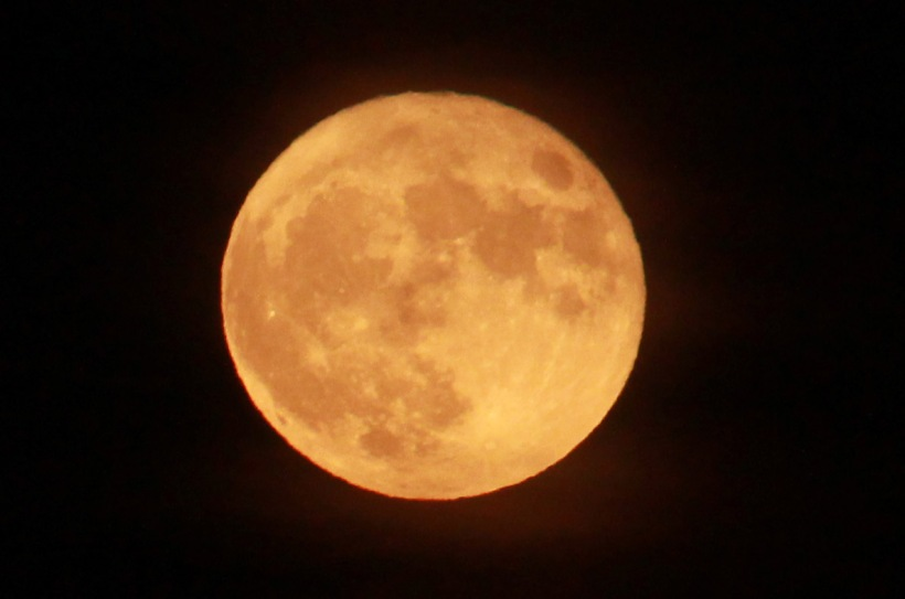 Golden orange moon Monday night.
