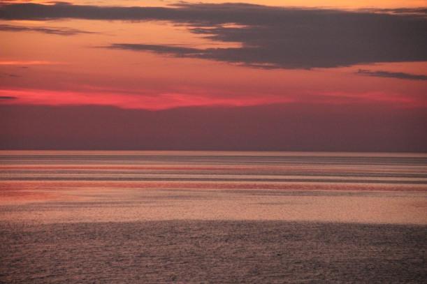 Sunset over Lake Michigan.