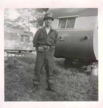 1954 Dad in the army in MD July